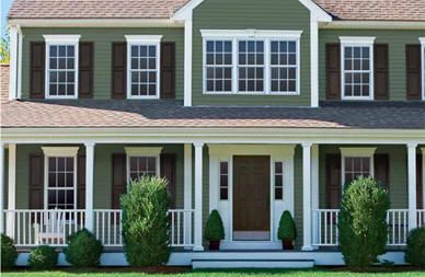 Love This Color Siding With Black Shutters Cape Cod