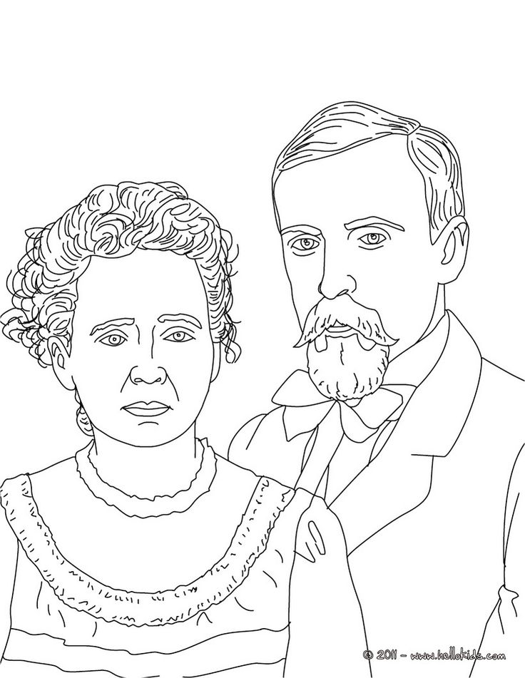 PIERRE and MARIE CURIE coloring