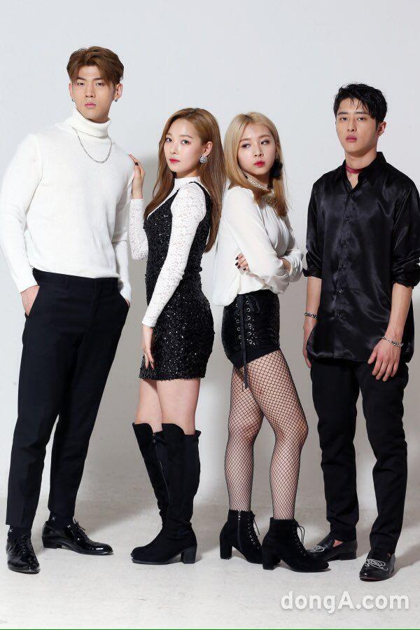 BM, Somin, Jiwoo and J.Seph