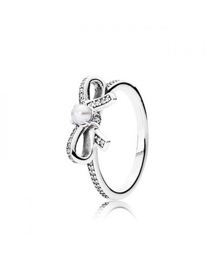 i think this Bow Silver Ring With Pearl And Clear Cubic Zirconia ring has a nice bow and pearl,so do my friends.