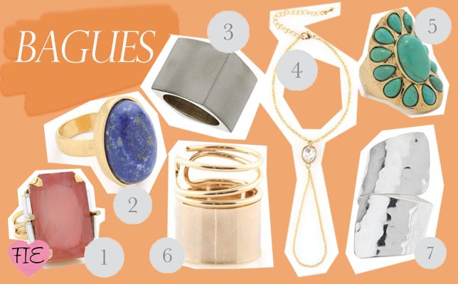 bagues - rings  - Jewelry shopping - bijoux