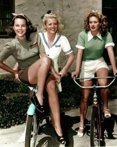Colorized 1940s photo