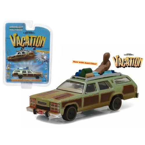 "1979 Family Truckster ""Wagon Queen"" with Aunt Edna ""National Lampoon's Vacation"" Movie (1983) 1/64 Diecast Model Car by Greenlight"