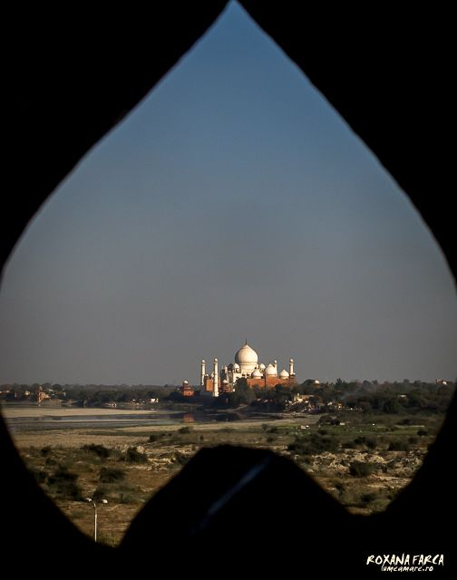 Taj Mahal as seen from Agra Fort