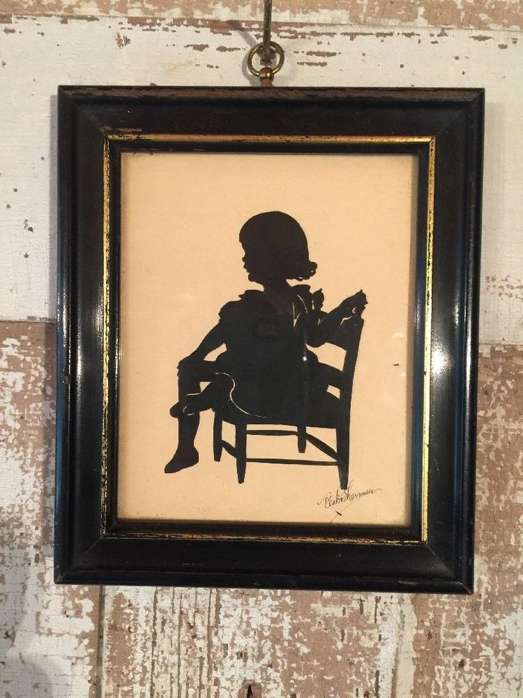 "Nice Framed Hand-Cut Silhouette of Girl Sitting in Chair! Signed in the lower corner -Beatrix Sherman! Beatrix (Beatrice) Sherman (1894-1975) was an American 20th Century Silhouette artist. There is a handwritten inscription taped to the back of the frame which reads: ""Nancy Sewall -daughter Arthur and Reese Sewall - Aged Two Years - November 1928"". 