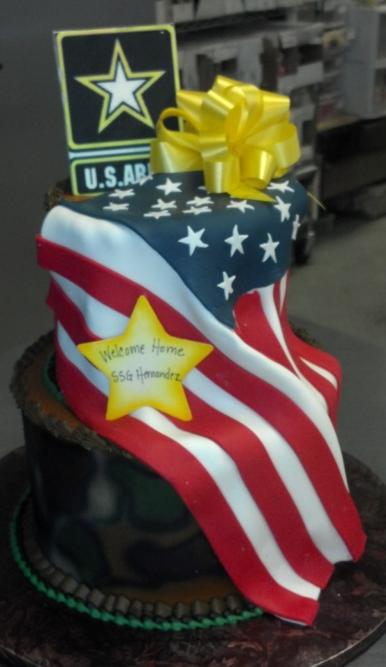 Welcome home teenage and adult cakes pinterest home for Military welcome home party decorations