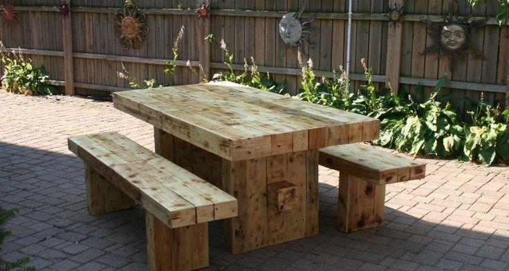 20 Adorable Outdoor Bench Table Set Ideas