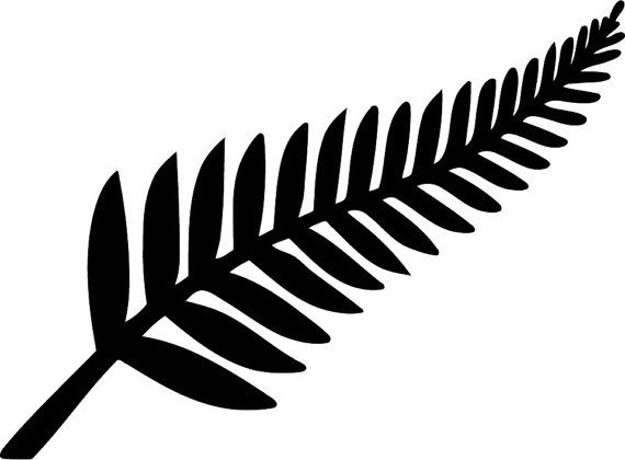 For your consideration is a die-cut vinyl New Zealand Silver Fern decal available in multiple sizes and colors. Vinyl decals will stick to