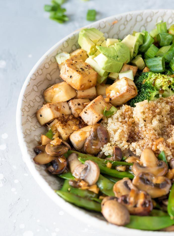 Teriyaki Quinoa Bowl Recipe Tofu Recipes Vegan Vegan Recipes Healthy Quinoa Bowl Recipe