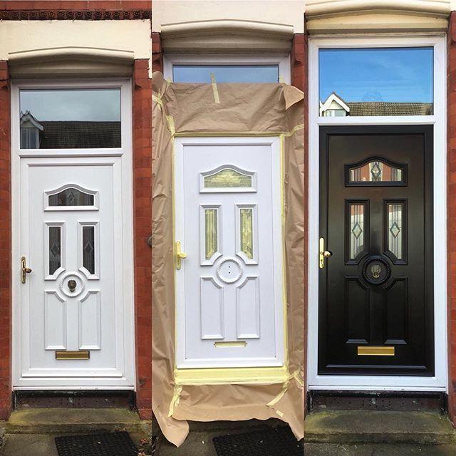 Beautiful Upvc Rehau Lincoln Door And Windows With Sparkle Glass Design In Side Panels And Top Openings Changing Windows And Doors Doors Upvc Front Door Upvc