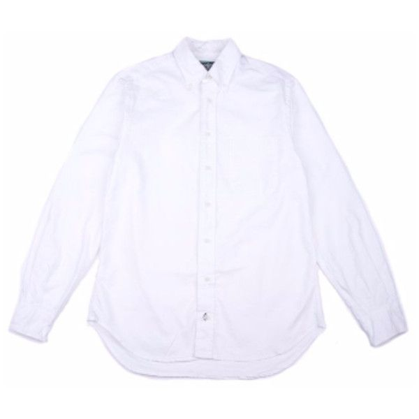 White Oxford Shirt (1.325 ARS) ❤ liked on Polyvore featuring tops, white top, oxford shirt, shirt oxford, white oxford shirt and gitman bros. vintage