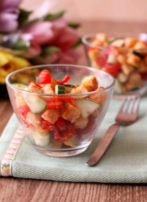 Panzanella croccante versione buffet
