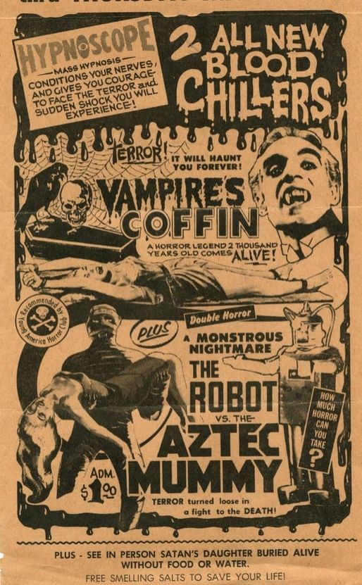 the VAMPIRE'S COFFIN (1958) and the ROBOT VS.THE AZTEC MUMMY (1958)