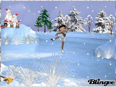 ❤️CHRISTmas ~ Betty Boop skating GIF