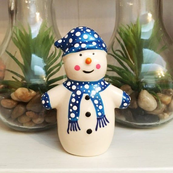 Ceramic Snowman Ornament Christmas Gifts Etsy In 2020 Christmas Ornaments Snowman Ornaments Christmas Gifts