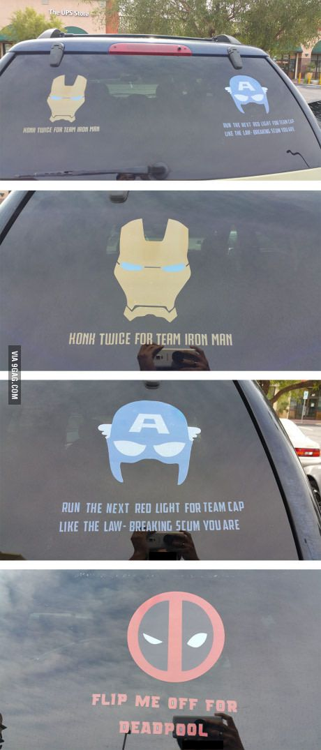 I really like these but hate the captain wording. It's clear the person is team iron man. (Forgive me while a roll my eyes and ram the back of your car lol) I like the minimalistic style though. So pinning