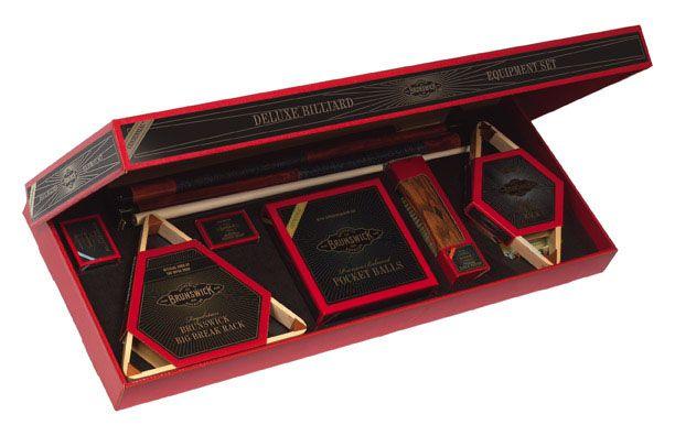 The Brunswick Centennial Play package featuring premium billiard accessories