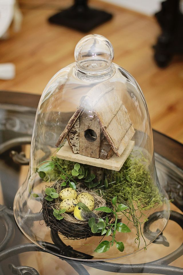 Easter Craft And Decorating Ideas With A Glass Dome Cloche
