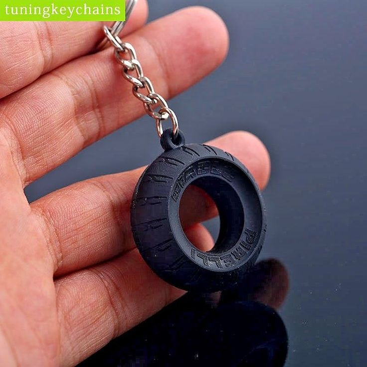 Motorcycle Tire Rubber Keychain for Motor Bike like Race Motorbike Key Ring  #Unbranded