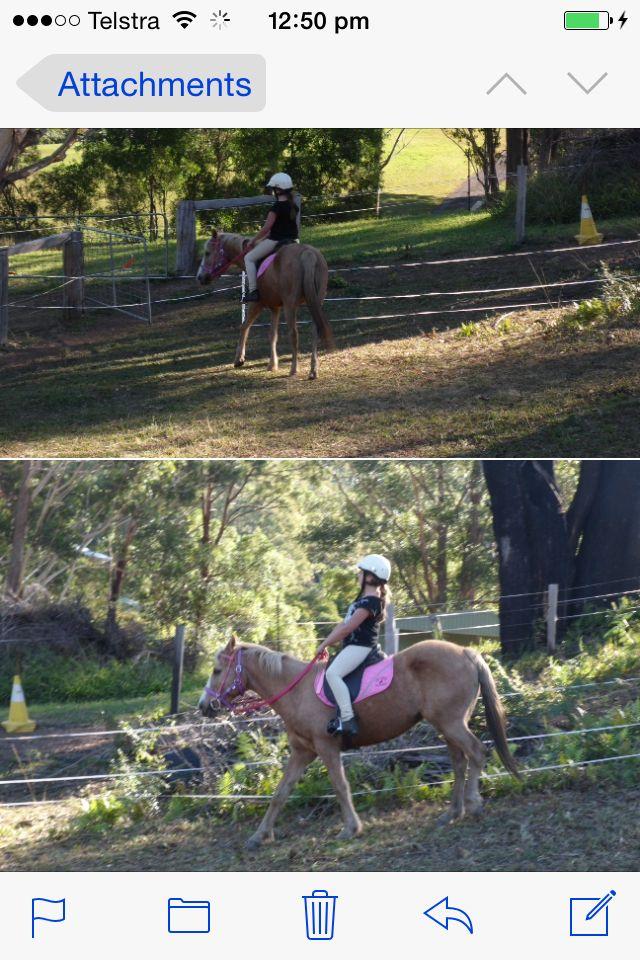 Me riding Bella a few weeks ago xox
