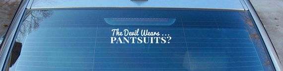 The Devil Wears Pantsuits Anti Hillary Clinton by infin8graphics