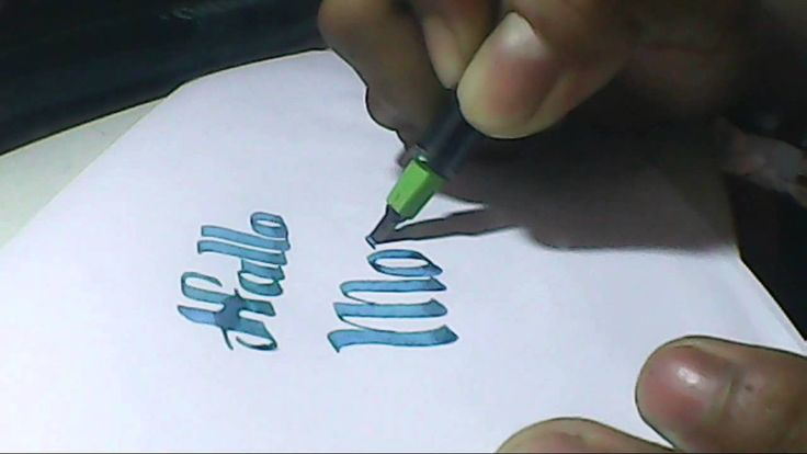 hallo monday | hand lettering with pilot parallel pen 3.8mm