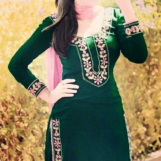 Green Punjabi Suit   Punjabi Suits.....   Punjabi salwar ...
