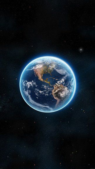 Earth View From Space Satellite iPhone 6 / 6 Plus wallpaper