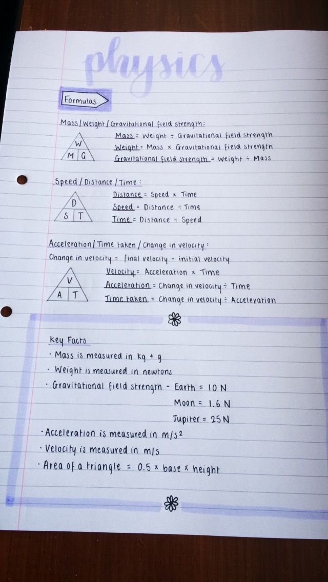 Revision for physics