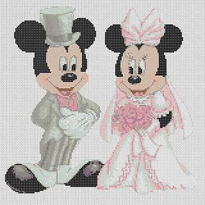 Cross-stitch-chart-mickey-mouse-and-minnies-wedding-FlowerPower37-UK