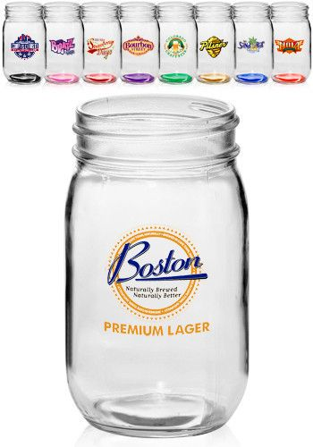 Personalized mason jars for sale. Get these 16 oz. mason jars at wholesale prices in time for your special events, or your creative display.