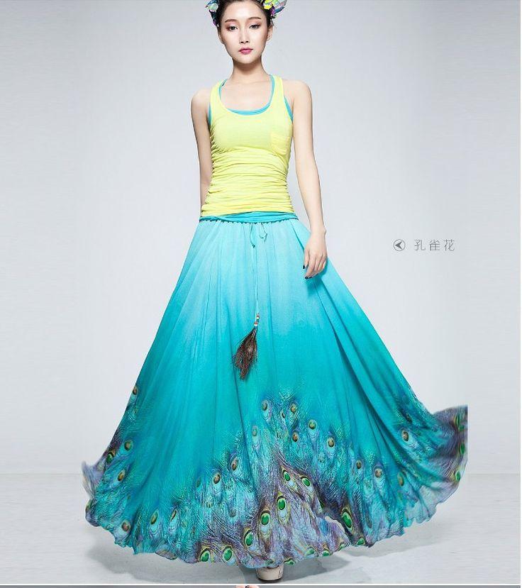 Skirt Women S Chiffon Long Skirt | Dresscab