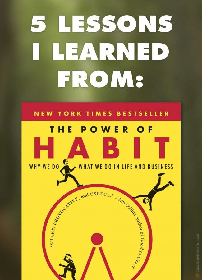 """5 Lessons I Learned from """"The Power of Habit"""" by Charles Duhigg"""