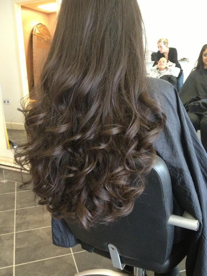 Bouncy blow dry  hairstyles in 2019  Long hair styles