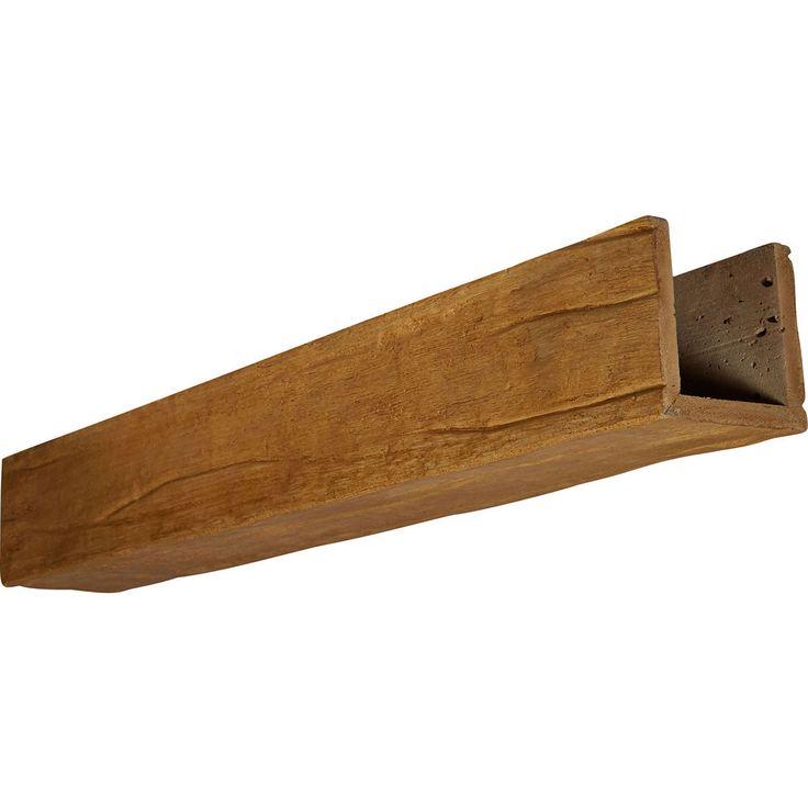 3-Sided (U-Beam) Riverwood Endurathane Faux Wood Ceiling Beam - 0