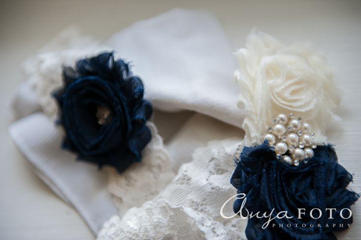 anyafoto.com, #wedding, wedding garters, bridal garters, lace wedding garters, white lace wedding garters, blue flower wedding garter, #somethingblue