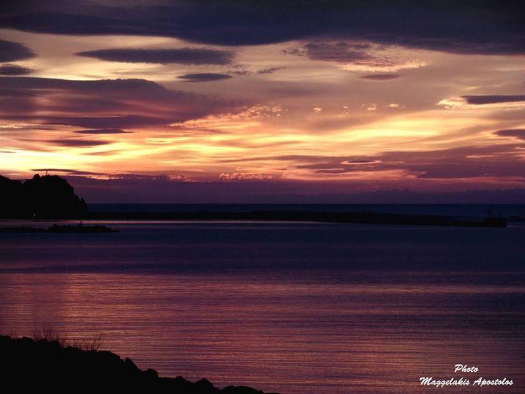 Ηλιοβασίλεμα στο Ποτάμι Σάμου Sunset in Potami Samos