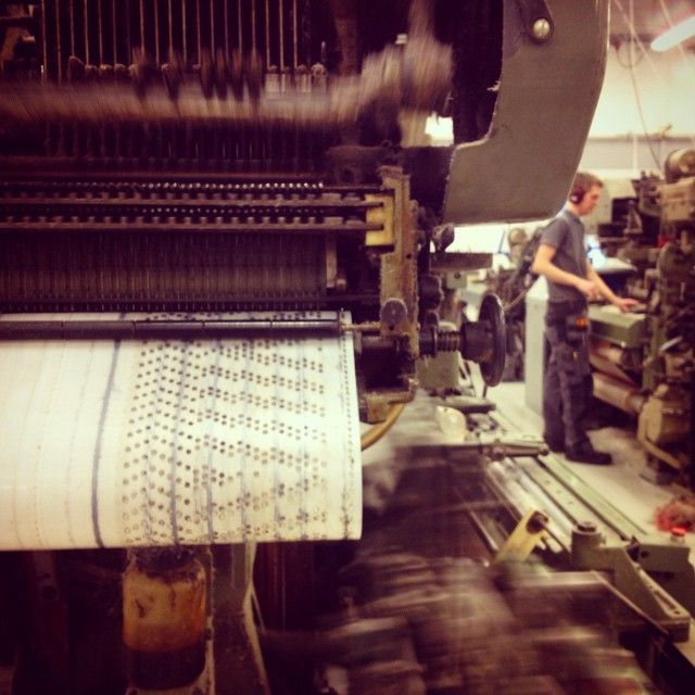 Punching cards are the brain of the looms.The factory lies in Växbo, this is where we weave our linen. Växbo Lin, pure linen, made in sweden.