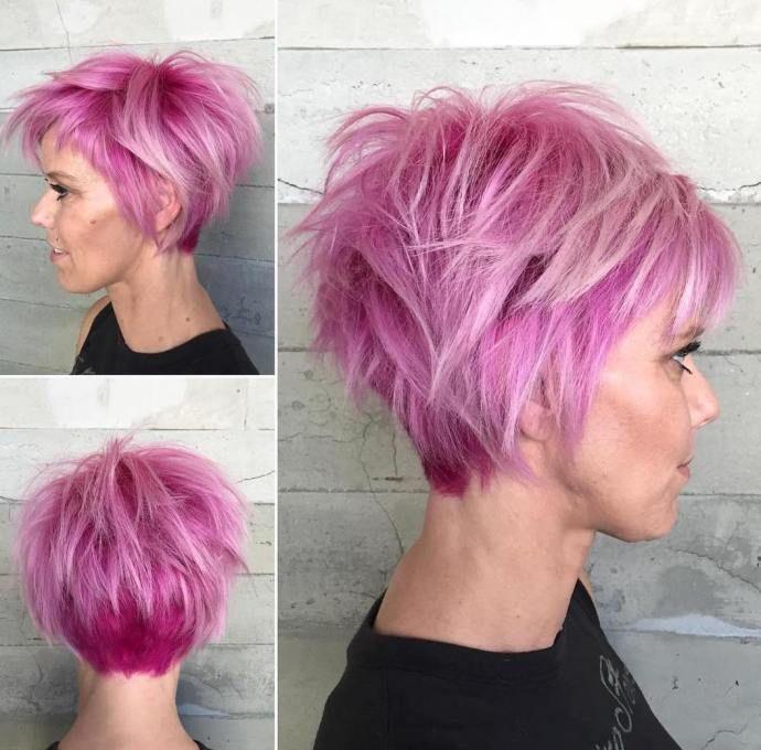 Shaggy Pastel Pink Pixie