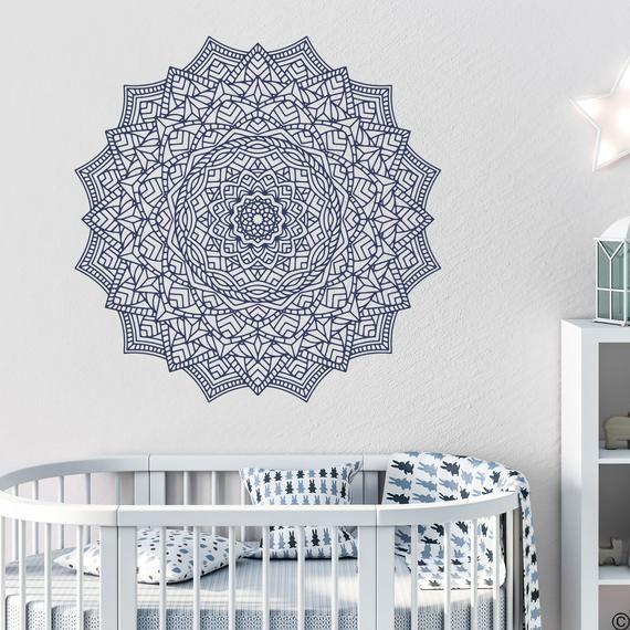 The Simar Mandala Wall Decal Medallion Yoga Studio Art Home