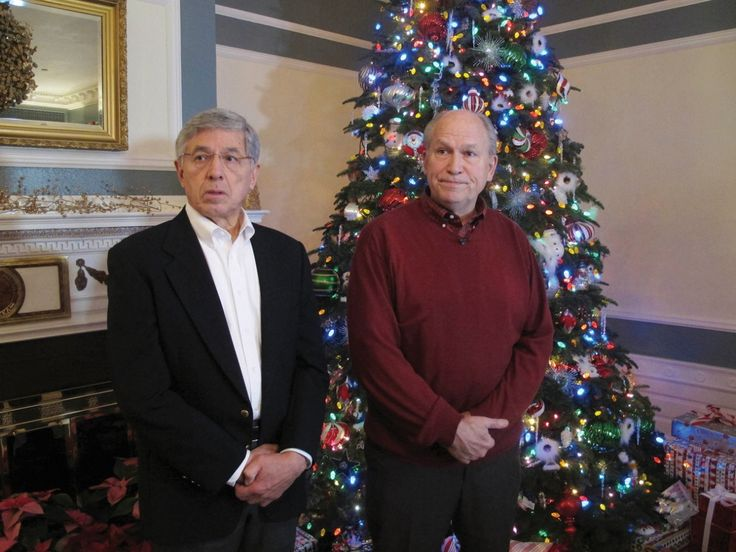 Lt. Gov. Byron Mallott, left, and Gov. Bill Walker take questions from reporters prior to a holiday open house at the governor's mansion on Dec. 9 in Juneau. The state budget faces a $3 billion deficit in the current fiscal year if oil prices per barrel averages $80 through next June 30. The price for Alaska North Slope crude closed at less than $64 on Dec. 9.