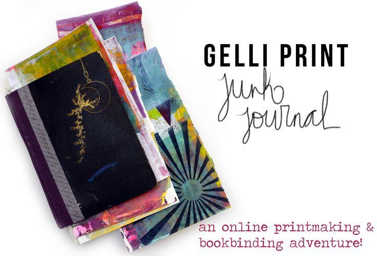 Gelli Print Junk Journal Class by Journal Girl