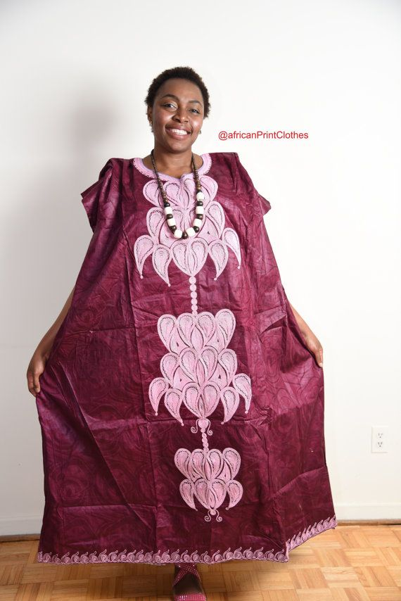 African Traditional dress with embrodery by AfricanPrintClothes