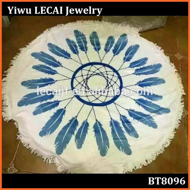 100% cotton 1kg customized round dream catcher beach towels with tassels fringe wholesale, View 100% cotton dream catcher beach towels, Lecai Product Details from Yiwu LECAI Fashion Jewelry Factory on Alibaba.com