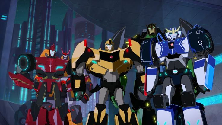 "Earth's Protectors: Sideswipe, Drift, Bumblebee, Grimlock and Strongarm (from ""Freedom Fighters"")"