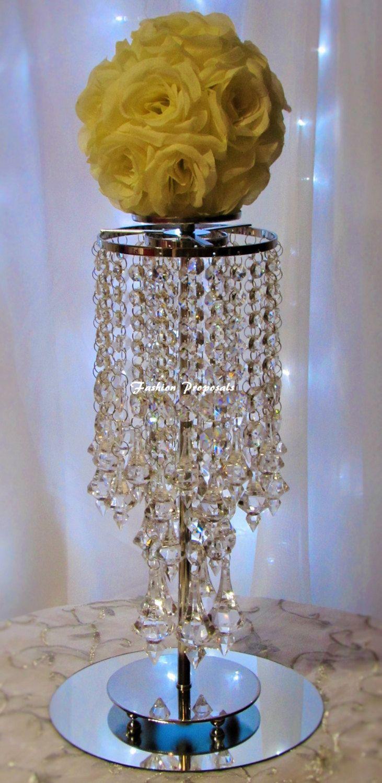 10 candélabres de mariage cristal, bougeoir, chandelier avec ensemble de vase de fleur de 10 centres de mariage cristal 399,00 by FashionProposals on Etsy