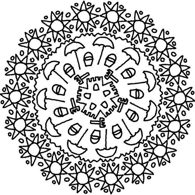 Coloring page Summer's Mandalas   Mandales   Pinterest