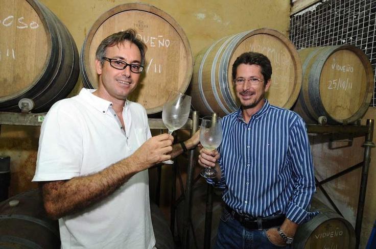 """Jorge #Zerolo y Rodrigo #Mesa, los """"culpables"""" de los #vinos #Contiempo, grandes amigos..."""