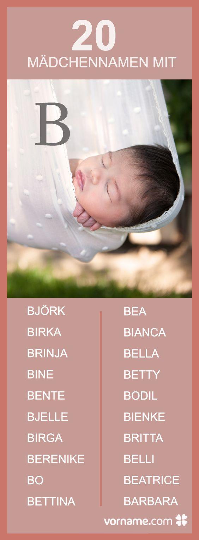 Du bist auf der Suche nach einem weiblichen Vornamen, der mit B beginnt? Dann schau in unserem Verzeichnis und erfahre mehr über die Herkunft und Bedeutung der Namen!