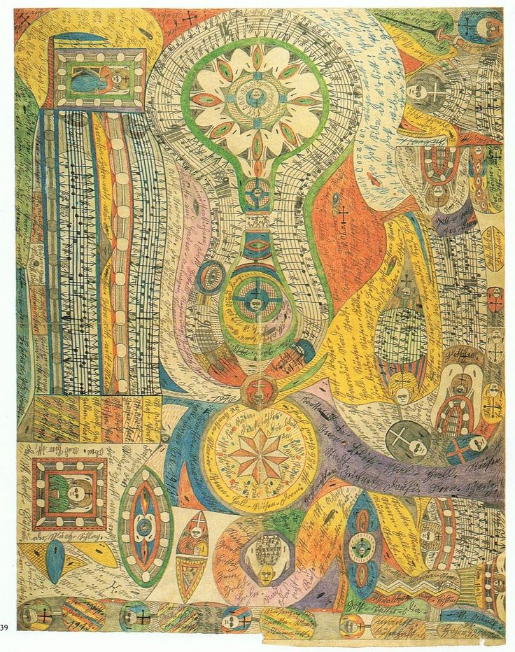 Adolf Wölfli -outsider art (psychiatric patient) I've had days like this.